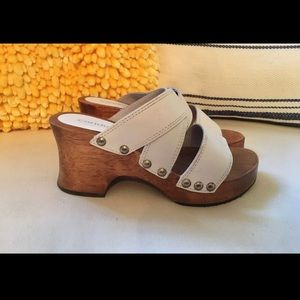 Candies vintage 80's 90's wood platforms size 6